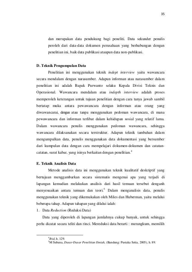 Skripsi Bab 3 Teknik Pengumpulan Data Ide Judul Skripsi Universitas