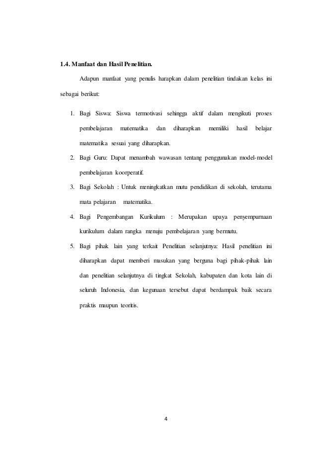Proposal Penelitian Tindakan Kelas Bab I Ii Iii