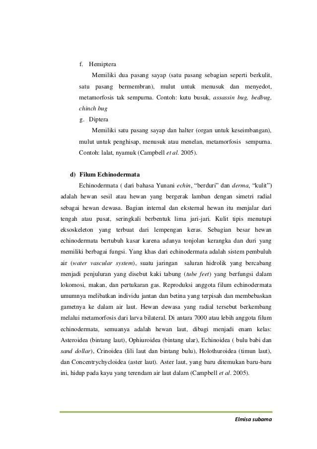 Laporan Praktikum Lapangan Taksonomi Hewan