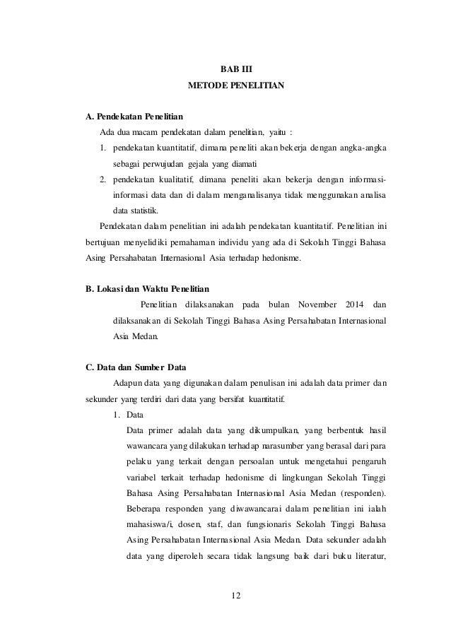 Makalah Bahasa Indonesia Hedonisme Di Lingkungan Stba Pia Bab 3