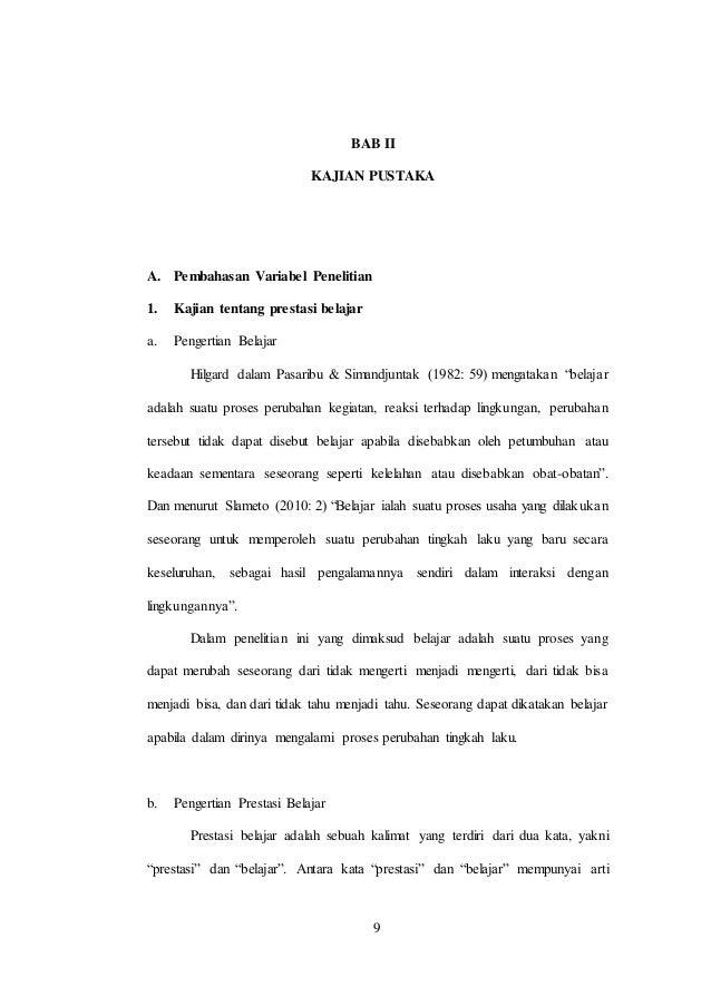 Contoh Proposal Skripsi Bab 1 Dan 2