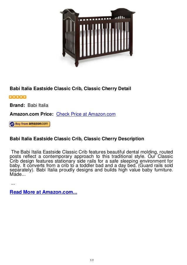 Babi italia eastside classic crib, classic cherry