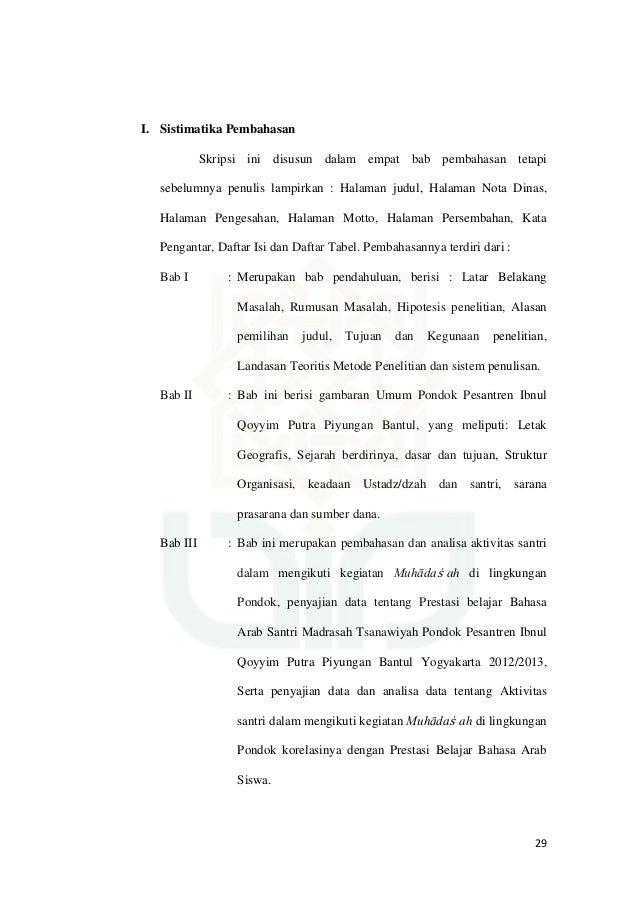 16 Contoh Skripsi Bahasa Arab Ptk