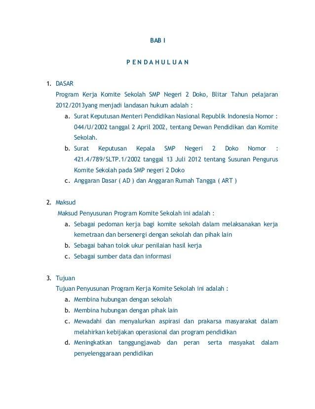 Bab I Komite Sekolah