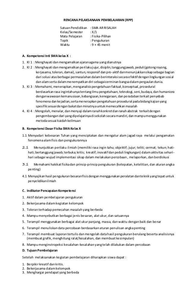 Bab I Pengukuran Fisika Kelas X K 13