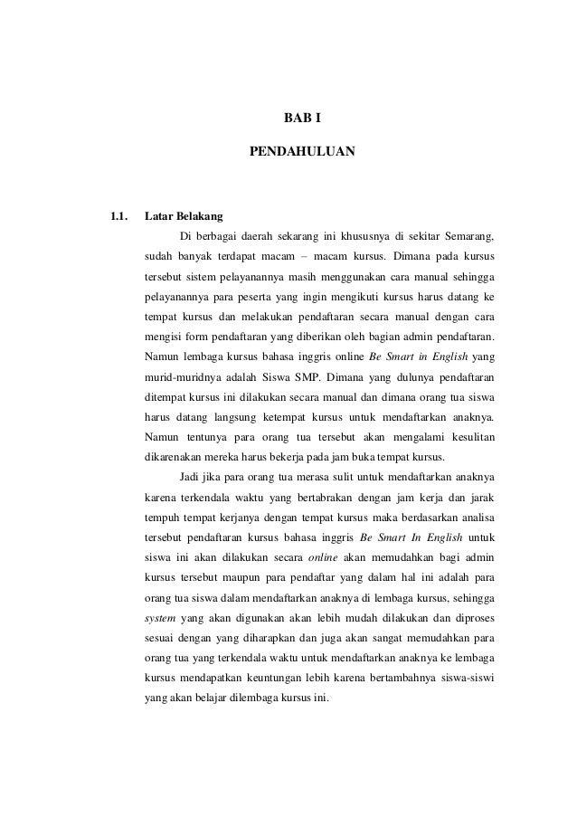 Bab 1 Latar Belakang Dan Tujuan Perancangan Sistem Informasi Pendafta
