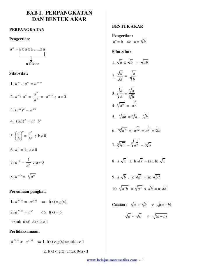 Bilangan berpangkat dan bentuk akar pdf download