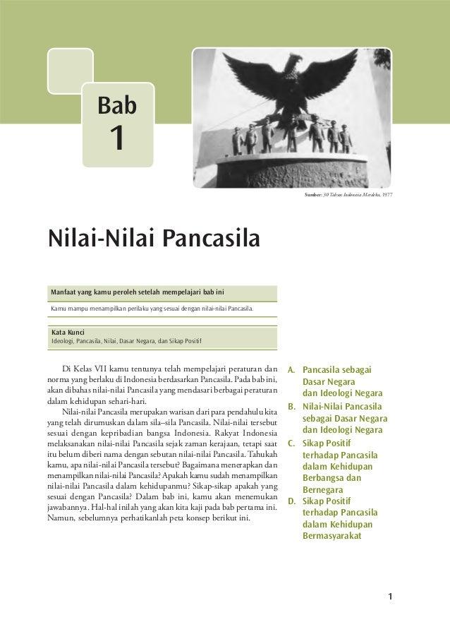 1 Nilai-Nilai Pancasila Bab 1 Sumber: 30 Tahun Indonesia Merdeka, 1977 Di Kelas VII kamu tentunya telah mempelajari peratu...