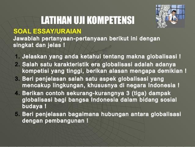 soal essay pkn tentang globalisasi