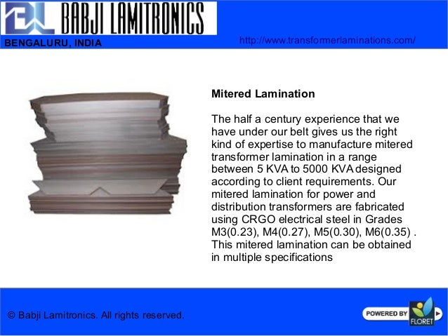 Advanced Quality Transformer Mitered Lamination Amp Toroidal