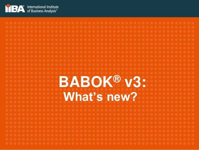 BABOK® v3: What's new?