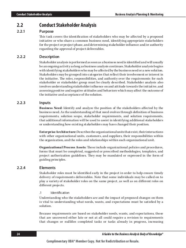 Image Result For Iiba Businessysis Approach Template