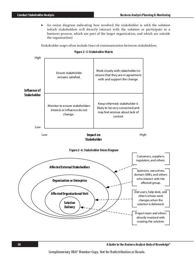 Babok 20 business analysis planning monitoring conduct stakeholder analysis an onion diagram ccuart Choice Image