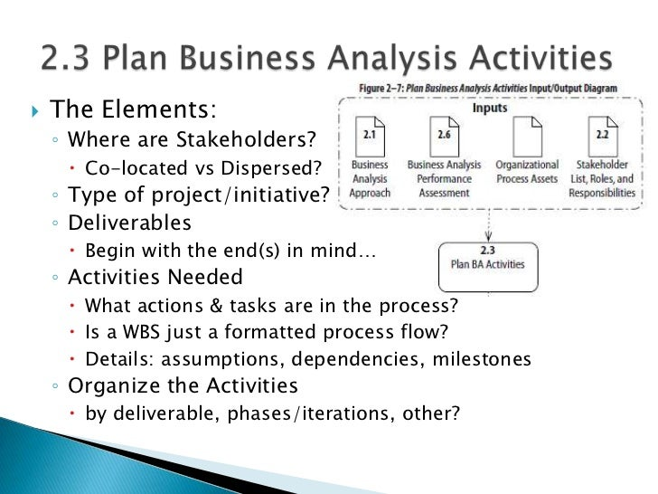 Babok Chapter 2 Business Analysis Planning And Monitoring