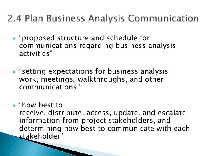BABOK Chapter Business Analysis Planning And Monitoring - Business analysis work plan template