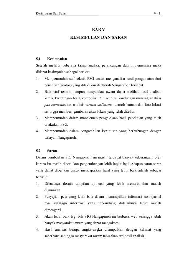 Contoh Skripsi Bab 5 Kesimpulan Dan Saran Kumpulan Berbagai Skripsi