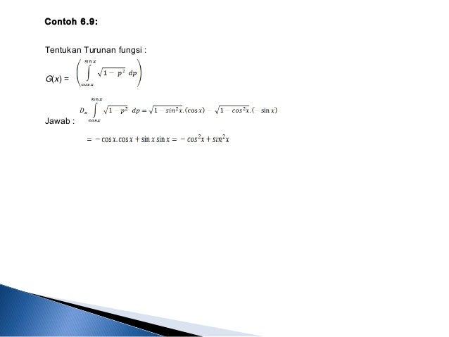 Bab 6. Integral ( Kalkulus 1 )