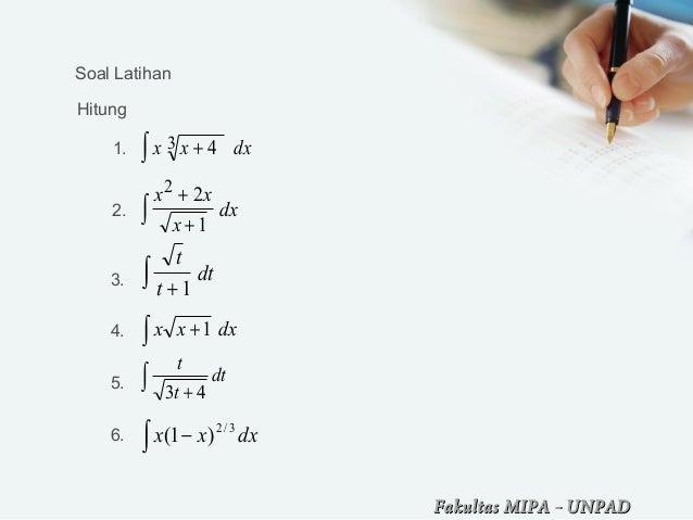 Bab 9 Teknik Pengintegralan Kalkulus 1