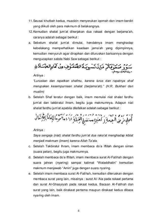 Bab 12 Tata Cara Shalat Jumat