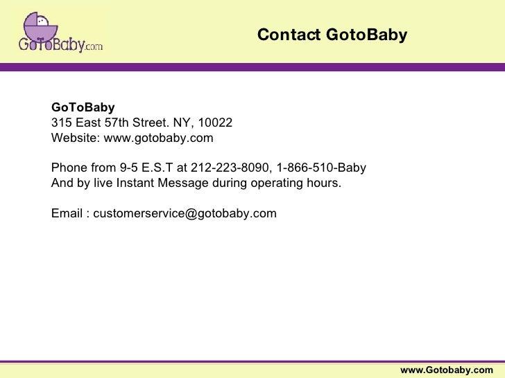 Gotobaby.com - Baby Gift Store slideshare - 웹