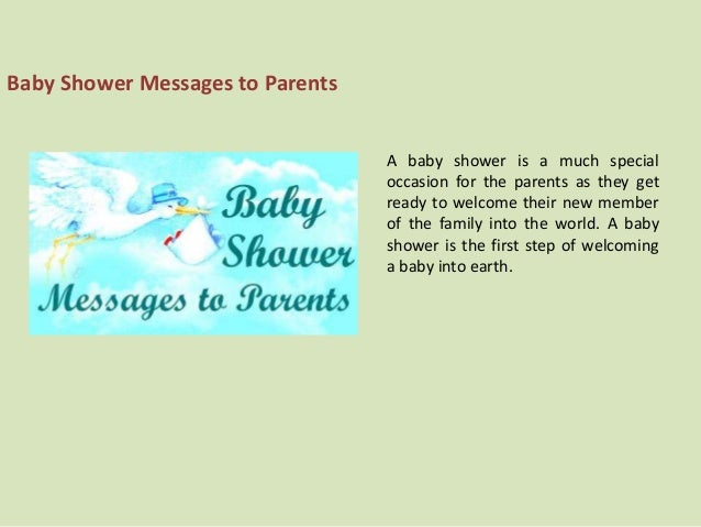 baby shower messages to parents a baby shower is a