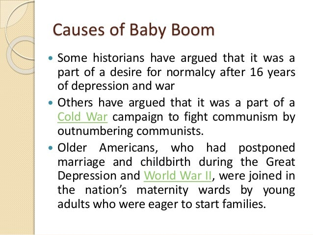 The boom generation in the united states of america
