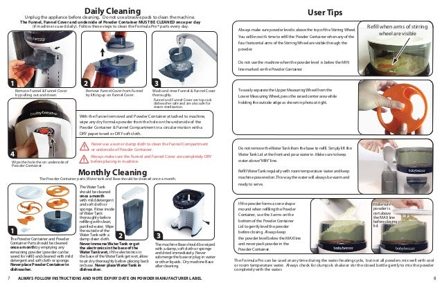 Baby Brezza Formula Pro instructional guide to putting it ...