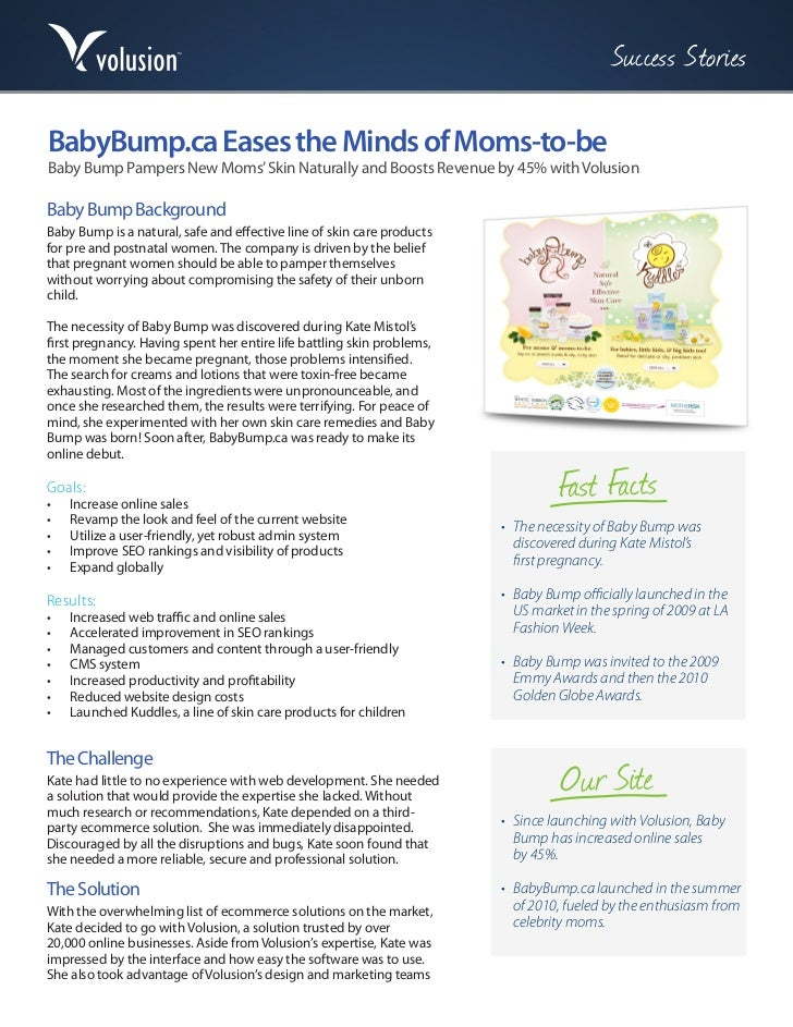 Success StoriesBabyBump.ca Eases the Minds of Moms-to-beBaby Bump Pampers New Moms' Skin Naturally and Boosts Revenue by 4...