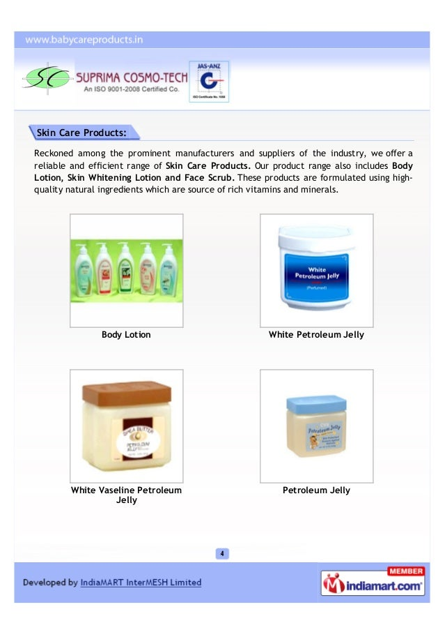 Skin Care Products:Reckoned among the prominent manufacturers and suppliers of the industry, we offer areliable and effici...