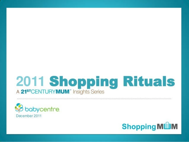 © 2011 BabyCenter LLC. Confidential. All rights reserved. A December 2011 2011 Shopping Rituals