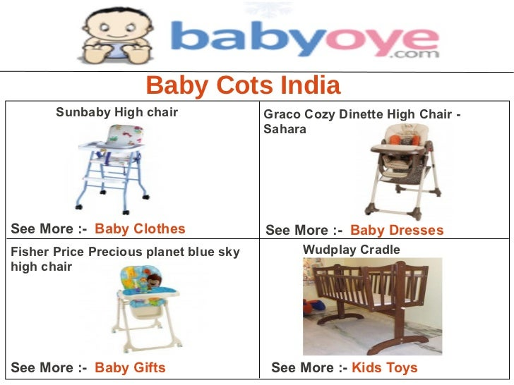Baby Cots India       Sunbaby High chair               Graco Cozy Dinette High Chair -                                    ...