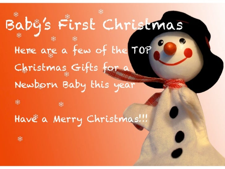 First christmas gifts ideas