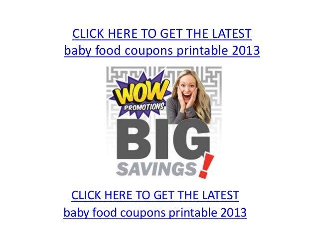 photograph regarding Baby Food Coupons Printable named Kid food stuff coupon codes printable 2013