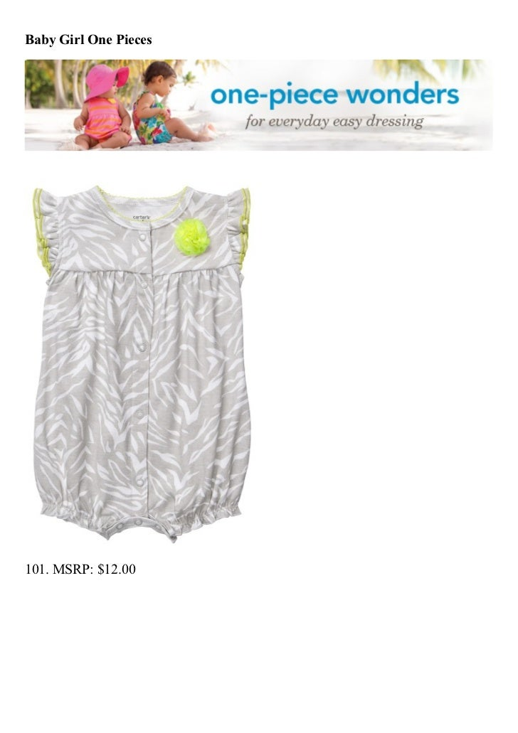 Baby Girl One Pieces101. MSRP: $12.00