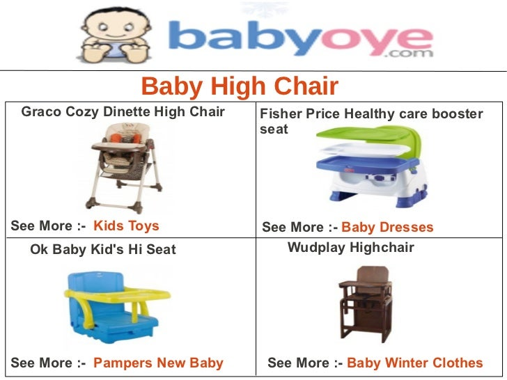 Baby High Chair Graco Cozy Dinette High Chair   Fisher Price Healthy care booster                                 seatSee ...