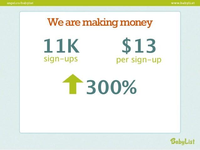 angel.co/babylist                     www.babyli.st                      revolutionize                    baby e-commerce