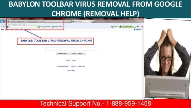 1-888-959-1458 Babylon Toolbar Virus Removal Tool From IE
