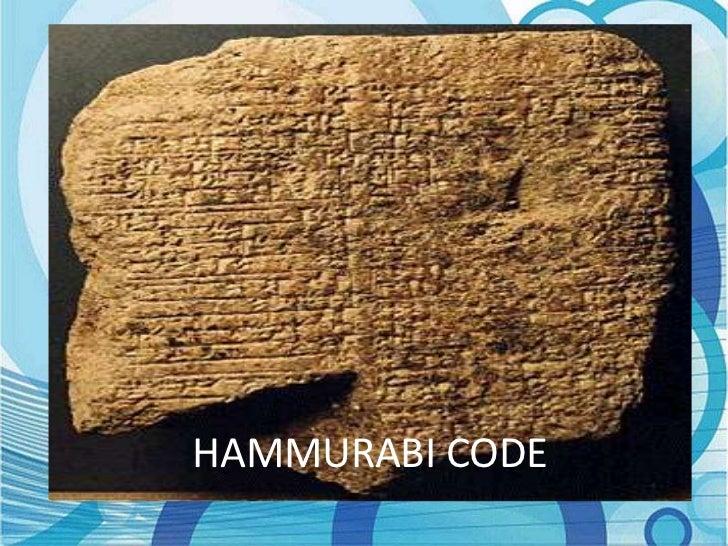 the code of hammurabi essay