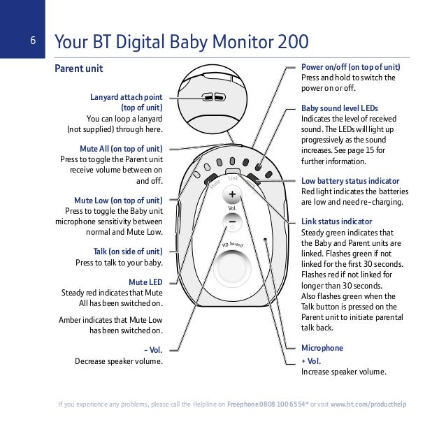 bt baby monitor 200 user guide. Black Bedroom Furniture Sets. Home Design Ideas