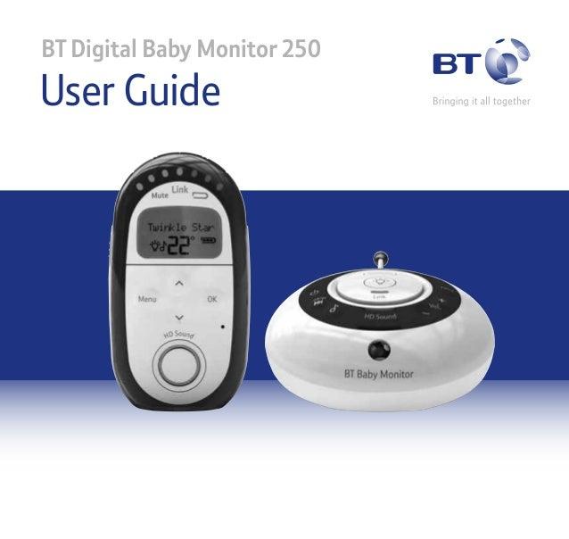 BT Digital Baby Monitor 250  User Guide