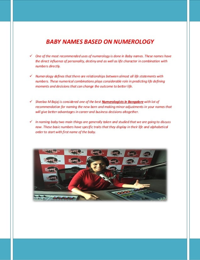 Best Numerologist in Bangalore | Baby Name Numerology in