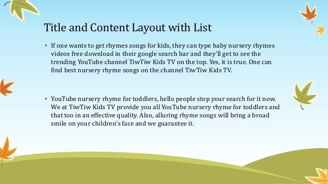 Baby nursery rhymes videos free download