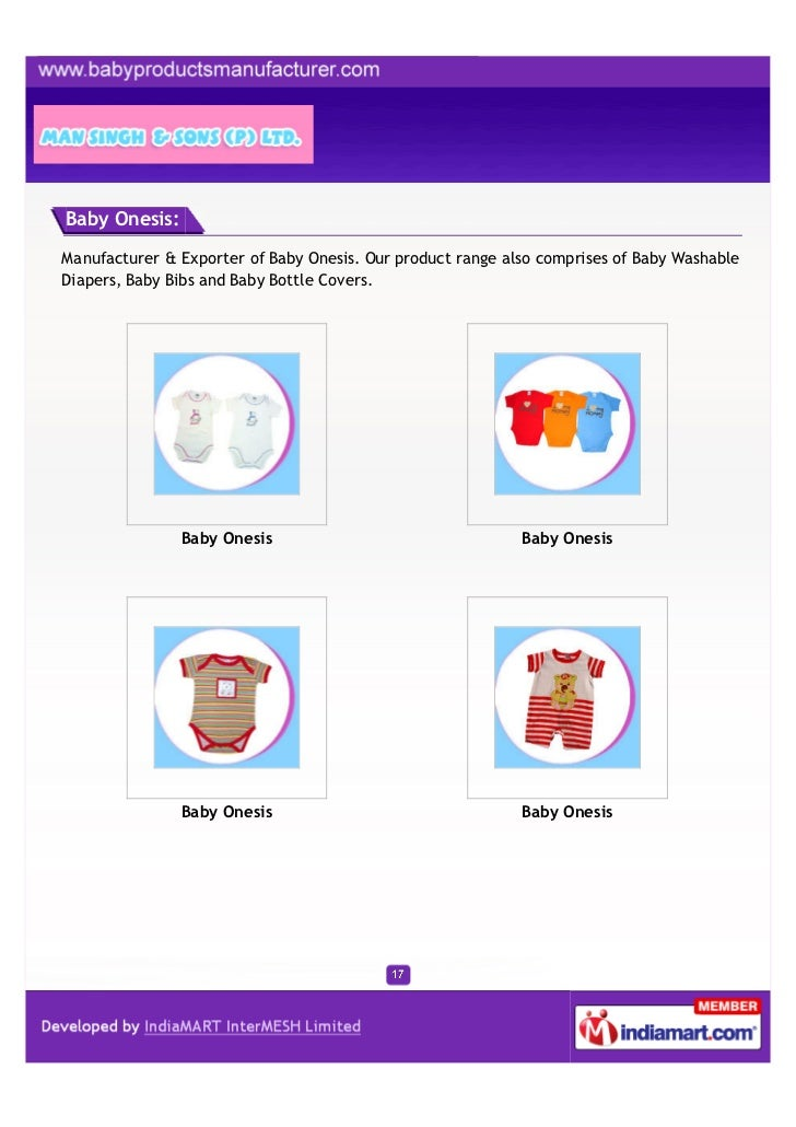 Baby Onesis:Manufacturer & Exporter of Baby Onesis. Our product range also comprises of Baby WashableDiapers, Baby Bibs an...