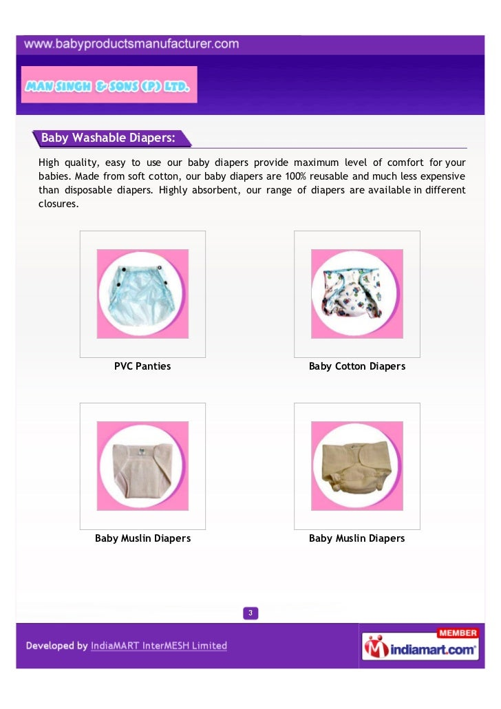 Baby Washable Diapers:High quality, easy to use our baby diapers provide maximum level of comfort for yourbabies. Made fro...