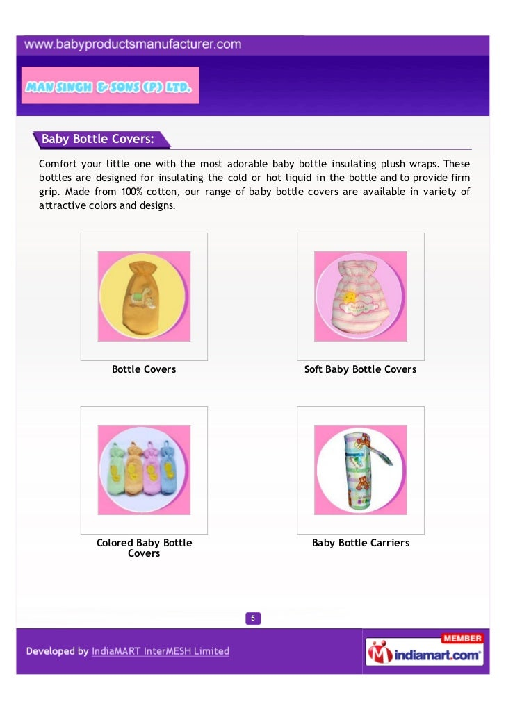 Baby Bottle Covers:Comfort your little one with the most adorable baby bottle insulating plush wraps. Thesebottles are des...