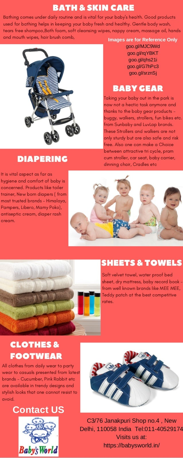 Baby Products Range