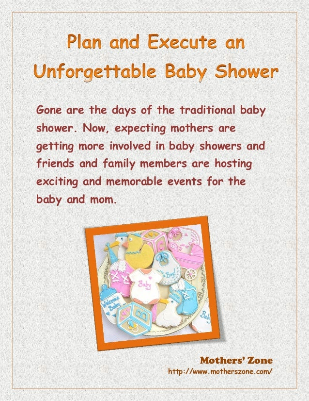 How To Plan A Baby Shower Plan the perfect baby shower