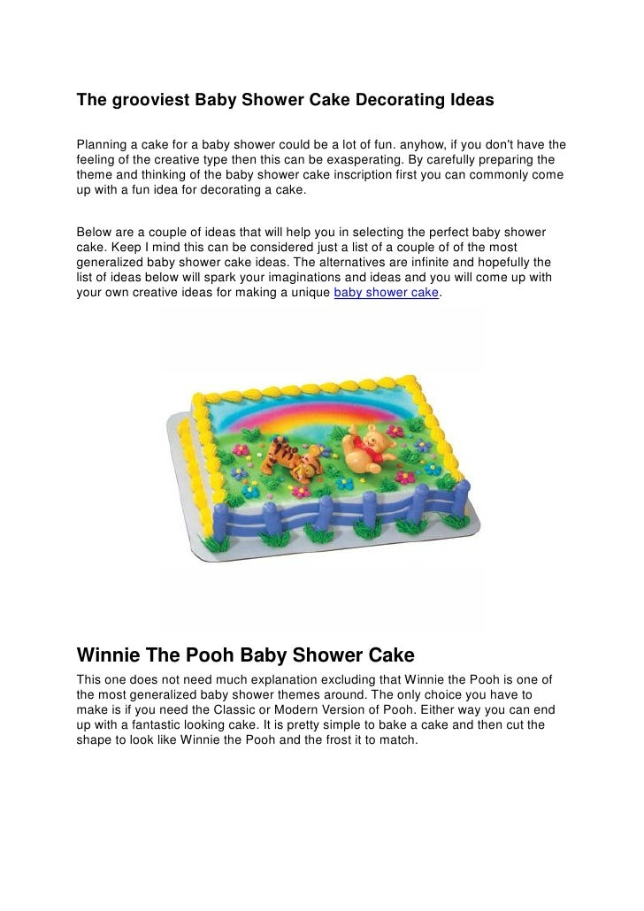 Baby shower cake decorating ideas for Baby footprints cake decoration