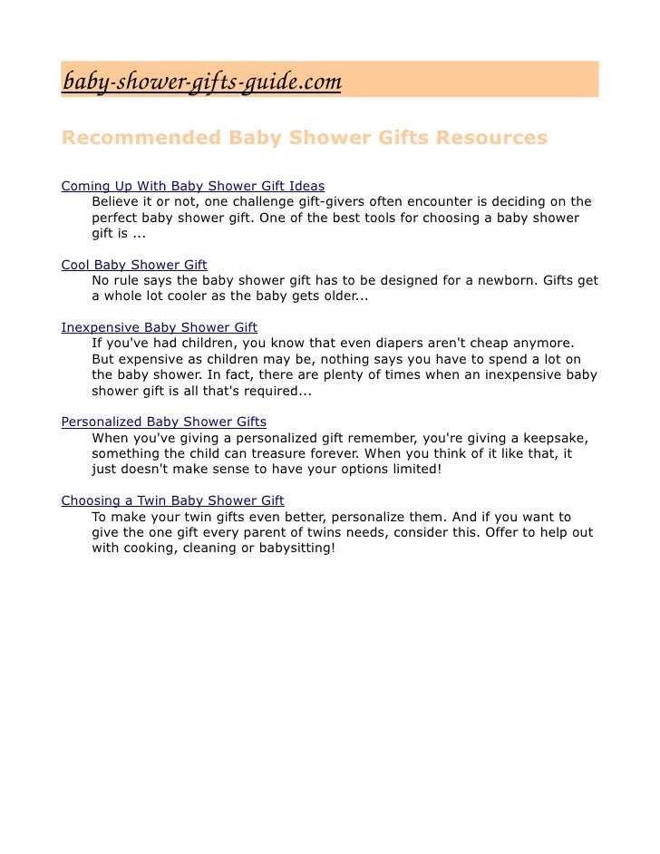 11. Babyshowergiftsguide.com Recommended Baby Shower Gifts ...