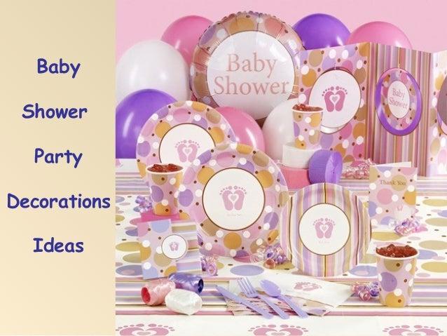 baby shower items list